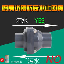 UPVC kitchen sewer toilet drain anti-anti-water check valve water pump check valve sewage pipe check valve