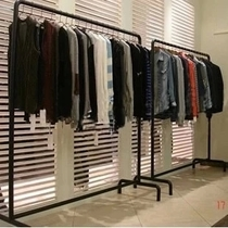 Iron hanger bar clothing store men and women shelf display stand floor-to-island rack side rack clothes rack special