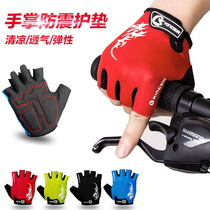 kingsir riding gloves bicycle gloves half finger gloves wicking sports gloves male breathable