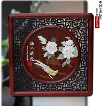 Jade carving painting pendant Dongyang wood carving living room study porch background wall decoration antique Chinese carving crafts