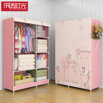 The new simple cloth cloth wardrobe steel reinforced bold simple modern folding wardrobe wardrobe assembly storage