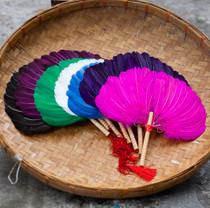 Color craft lupine handmade feather fan hibiscus fan swan feather square dance fan cooling fan pregnant women Baby fan
