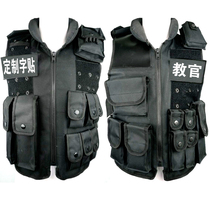 Outdoor security tactics vest tactical vest Security CS field vest anti-stab plus custom word stickers