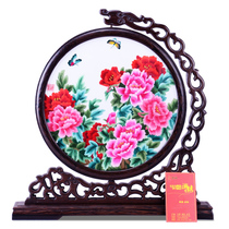 Purple Yu Xiang embroidery double-sided embroidery variety of hand-made embroidery can be customized living room study decoration ornaments abroad gifts