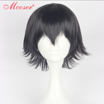 Spot * Mcoser Nobu wild dog Edogawa chaos step black original anti Alice modeling Cosplay Wig