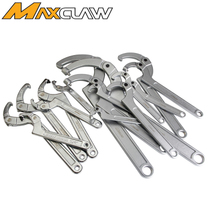 Original imported round head Square crescent wrench 35-180mm metric movable head hook wrench hook wrench