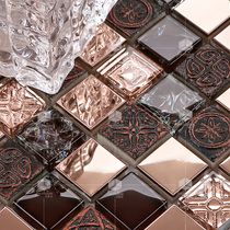 Crystal mosaic 143 electroplating crystal resin metal mirror puzzle TV background wall paste living room tiles.