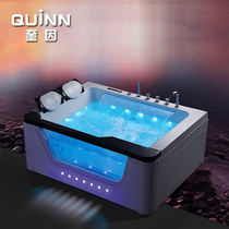 Quine acrylic massage surf tub thermostat water curtain big waterfall bathtub single double 1 7 M M bidet adult