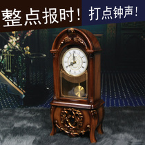 Li Sheng European retro clock clock living room counter clock bedroom ornaments fashion pendulum clock with the whole point of time