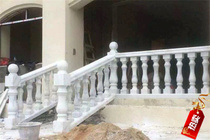 Natural stone balcony balustrade stair handrail outdoor Roman vertical pillar plaster Guangxi white marble stone balustrade finished products