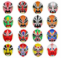 Lin Fang 10g Halloween Ball hand-painted Chinese Peking opera mask face Childrens Peking opera Facebook mask Decoration