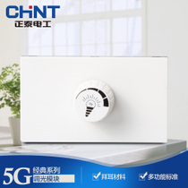 CHiNT switch socket type 118 wall switch NEW5G occupy two dimming module
