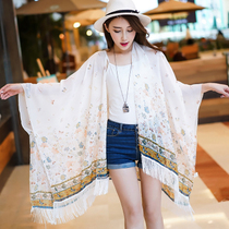Bikini swimsuit Beach sunscreen blouse beach towel wrap shawl shawl shawl