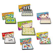 Kids Flying Chess Jumping checkers Adult Chess Toys Puzzle Magnetic Five chess Chinese chess go