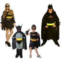 Cosplay halloween enfants de vêtements adulte maquillage bal costume Batman vêtements parent-enfant costume hommes et femmes