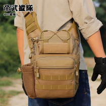 Outdoor camouflage tactical backpack thickened oblique photography bag camera bag IPAD shoulder bag messenger bag gannet saddle bag