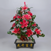 Natural jade ornaments Pink Peony Jade living room ornaments home accessories creative gift flowers rich
