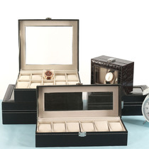 Meng Luo leather watch storage box stall display box stall with lock European Watch gift box box watch box