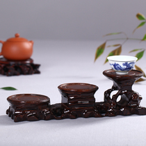 Haolin Xuan wooden root carving three-step High and low round vase base seat root carving wood carving