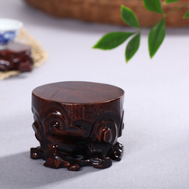 Haolin Xuan wooden root carving round root base tea base vase base seat