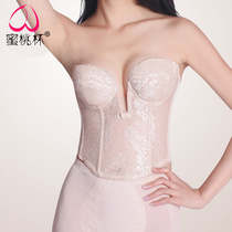 Peach Cup bridal wedding underwear bra bra corset corset underwear summer thin section breathable