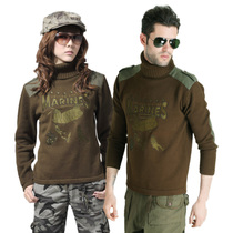 Outdoor winter Army fan turtleneck sweater men and women knitted sweater hedging thickened wind warm