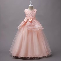 Girls flowers bow in the Big Princess Dress Dress Dress evening presided over the tutu girl dress