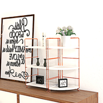 Nordic ins rose gold cosmetics rack bathroom bathroom multi-storey storage storage rack dresser finishing rack