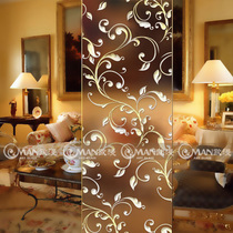 Art glass cut frosted sculpted European translucide double-sided screen Home Improvement living room steel craft custom