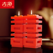 Wedding wedding supplies creative Chinese wedding room layout red candle hi word cave candle Dragon and Phoenix on the wedding feast