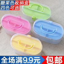 Plastic Transparent needle box tool box cosmetic box treasure chest sewing tool Box stitching kit storage Box