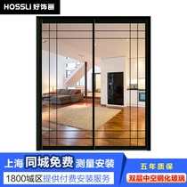 Custom balcony bathroom double glass narrow sliding door sliding door kitchen sliding door sliding door modern minimalist