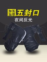 Wonderful love motorcycle cover winter thick warm waterproof electric car battery car windproof PU gloves tricycle