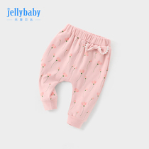 Baby pants spring and autumn wear June girls autumn childrens childrens trousers 3-year-old baby harem pants large pp pants