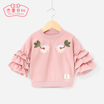Childrens bottoming shirt 1-3 years old childrens clothes girls childrens baby shirt foreign spring 5-6 female baby sweater