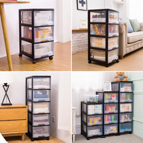 Household multi-layer childrens plastic drawer storage cabinet toys finishing snacks storage box transparent cabinet clothes box