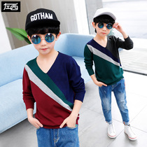 (Special clearance)left West boy sweater spring 2019 New childrens pullovers sweater large Children Korean version