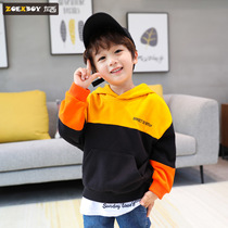 Left West boy hooded sweater autumn 2019 New childrens shirt in the big boy spring and autumn boy Korean version of the tide