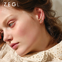 ZENGLIU small ear clip no ear hole female French earrings simple temperament cold wind earrings ear bone clip earrings