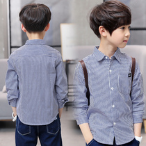 Boy Spring Long sleeve shirt 2019 new children wear 10 warm 12 shirt 15 years old foreign gas spring and autumn Big Boy