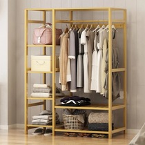 Wardrobe simple modern economy storage simple wardrobe bamboo Assembly solid wood cabinet space-saving bedroom large capacity