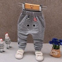 Childrens pants boys sports pants spring and Autumn 2018 New thin section baby childrens casual pants 1-3 years old Korean version of the tide 5