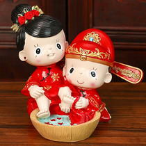 Fei find wedding gifts to send girlfriends creative wedding gift bedroom living room Wedding Room couple doll practical small ornaments