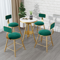 Nordic milk tea shop tables and chairs combination of small round table small coffee table cafe shop leisure bar tables and chairs three sets