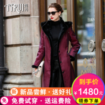 Anti-season fur Parker clothing women 2019 Winter new Nick clothing in the long section of the mink coat Rex rabbit liner detachable