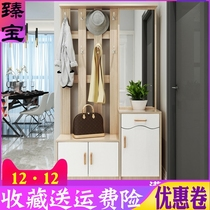 New Hall cabinet coat cabinet hanging clothes rack shoe rack one combination with mirror for shoes stool door entrance barrier