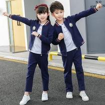 Primary school uniforms spring and autumn suits childrens sports baseball clothing British wind girls Class clothing kindergarten clothing boys