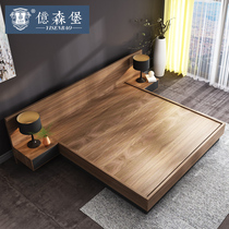 Eisenburg Japanese tatami storage bed modern minimalist Nordic plate bed double bed 1 8 meters master bedroom low bed