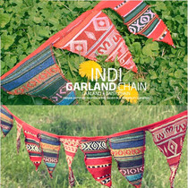 Outdoor national wind 14 triangular Flag camping tent lanyard outdoor camping decorative bunting Christmas bunting lanyard