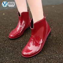 Rain adult rain boots ladies rain spring and Autumn Fashion rain boots short tube casual water shoes non-slip wear-resistant water boots